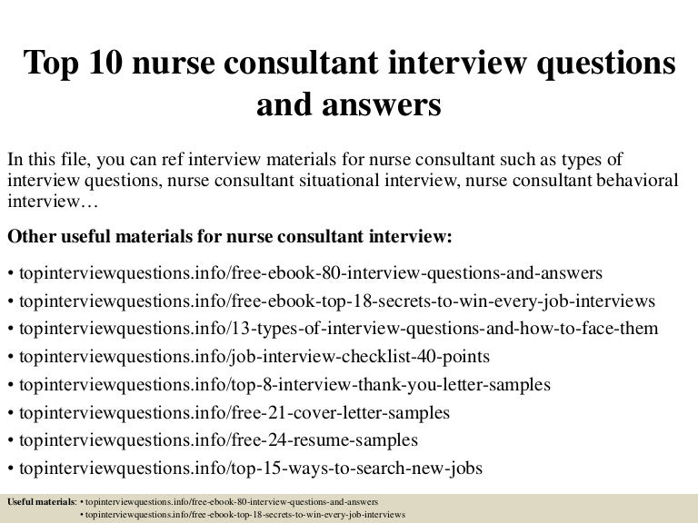 Sample rn interview thank you letters ebook array top 10 nurse consultant interview questions and answers rh slideshare net fandeluxe Image collections
