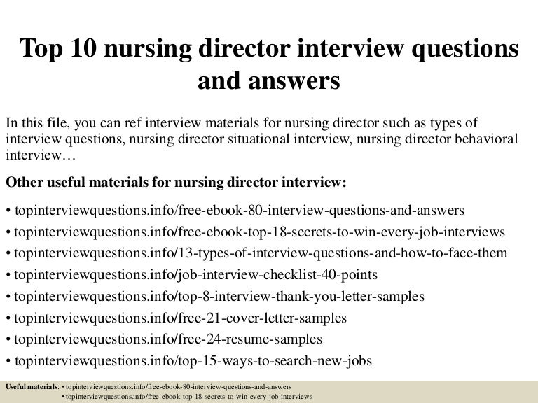 Sample rn interview thank you letters ebook array top 10 nursing director interview questions and answers rh slideshare net fandeluxe