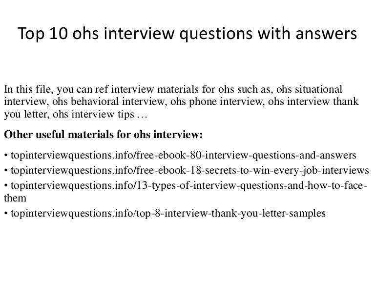 Ohs audit report template safety audit report templates 7 free pdf top10ohsinterviewquestionswithanswers 141230025029 conversion gate01 thumbnail 4 jpg cb 1504876219 fandeluxe Images
