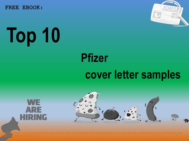 Top 10 pfizer cover letter samples