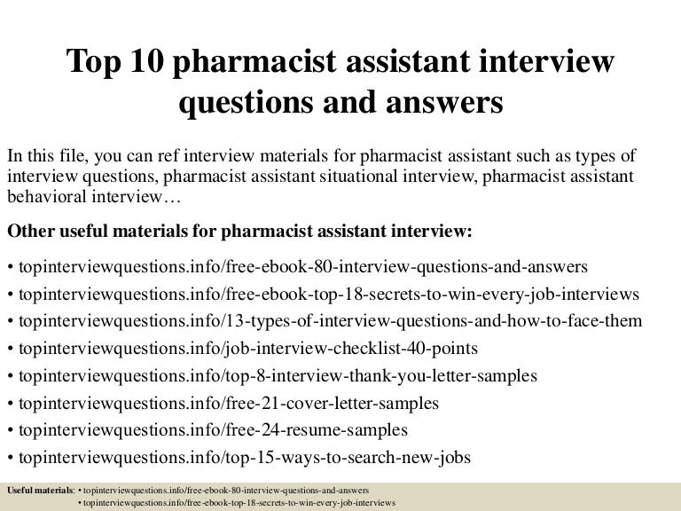 Pharmacist Assistant Job Description