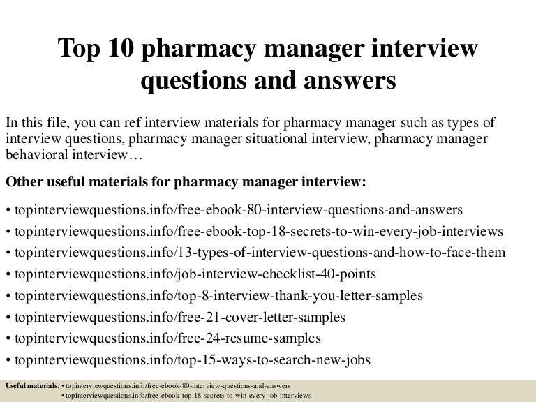 SlideShare  Pharmacy Manager Resume