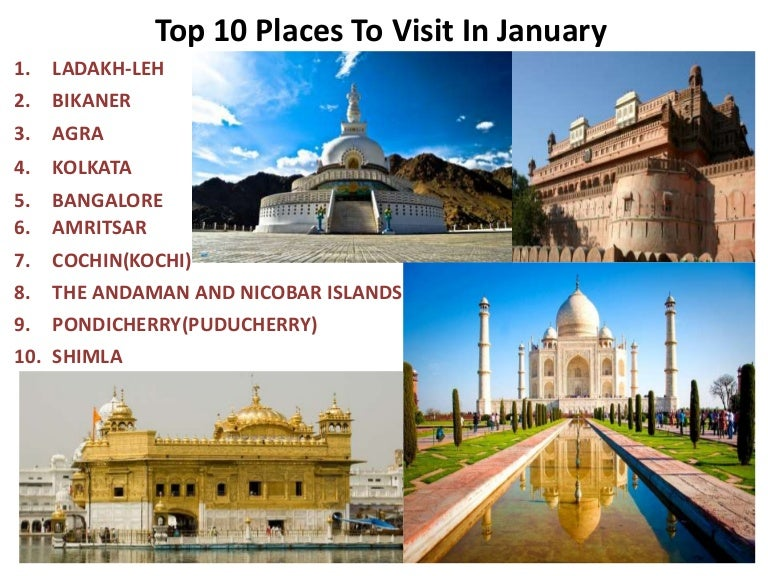 Top 10 Places to Visit in January