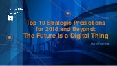 Top 10 Strategic Predictions for 2016 and Beyond