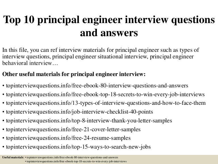 top10principalengineerinterviewquestionsandanswers 150320095234 conversion gate01 thumbnail 4jpgcb1426863202 - Principal Engineer Sample Resume