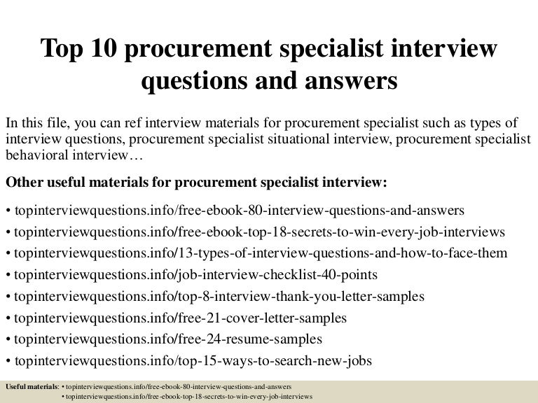 top10procurementspecialistinterviewquestionsandanswers 150406210611 conversion gate01 thumbnail 4jpgcb1504877359