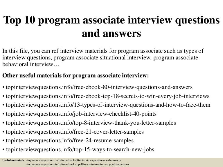 Wonderful Top10programassociateinterviewquestionsandanswers 150319103021 Conversion Gate01 Thumbnail 4?cbu003d1426761537