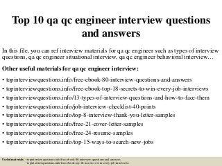 Qc Engineer | LinkedIn