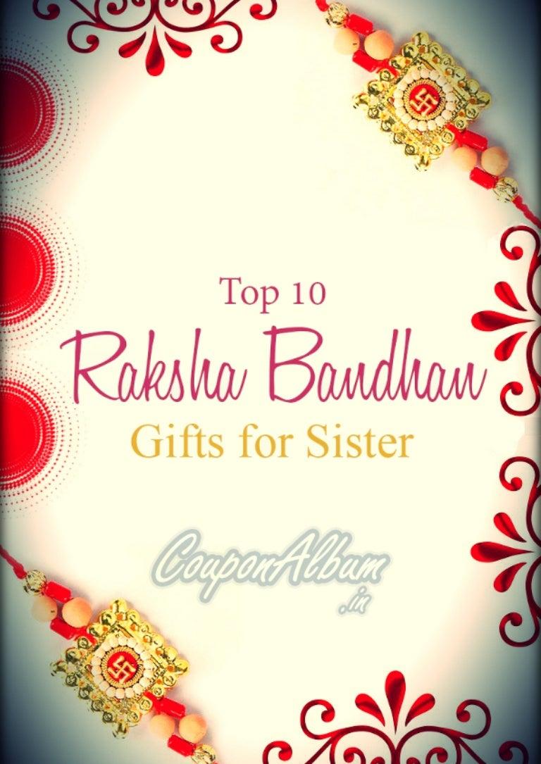Top 10 Rakhi Gift Ideas For Sister