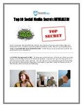 Top 10 Social Media Secrets REVEALED! (ebook)