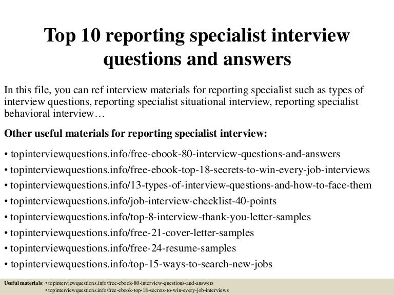top10reportingspecialistinterviewquestionsandanswers 150323193634 conversion gate01 thumbnail 4jpgcb1427157446 - Quality Analyst Interview Questions And Answers