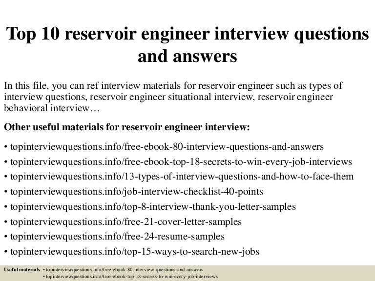 top10reservoirengineerinterviewquestionsandanswers 150406085733 conversion gate01 thumbnail 4jpgcb1428328700 - Reservoir Engineer Sample Resume