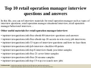 Operation Manager | LinkedIn