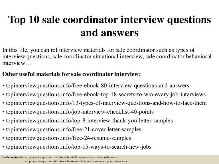 Top10salecoordinatorinterviewquestionsandanswers 150318215255 conversion gate01 thumbnail 4gcb1426733616 fandeluxe Gallery