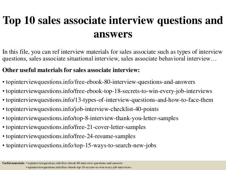 jobs of a sales associate