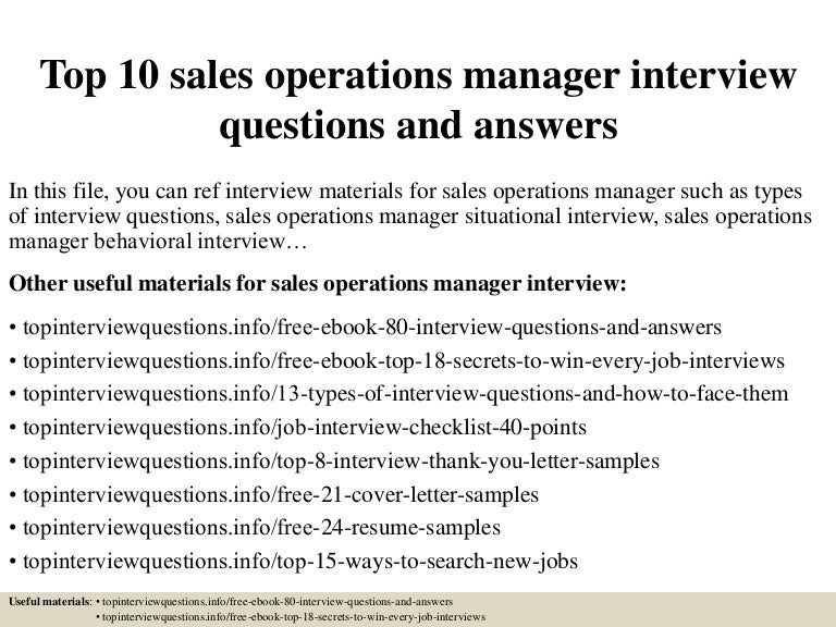 sales operations resume examples