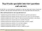 Lowes sales specialist interview questions and answers