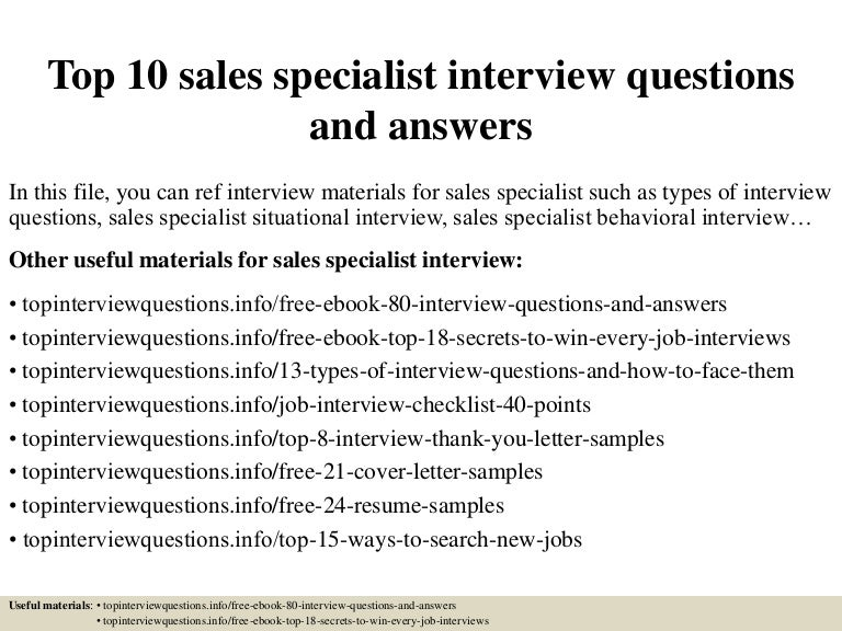 Top10salesspecialistinterviewquestionsandanswers 150403033915 conversion gate01 thumbnail 4gcb1504886828 fandeluxe Images