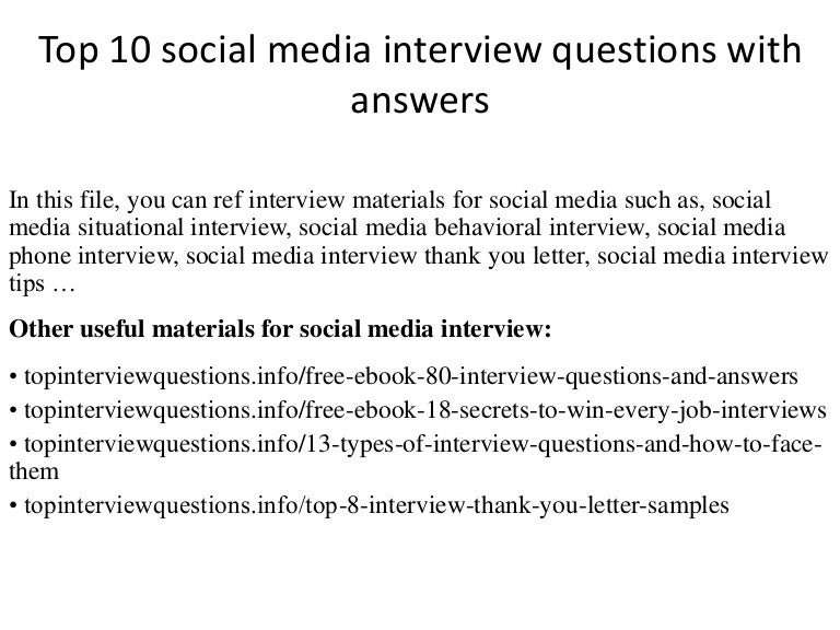 top 10 social media interview questions with answers