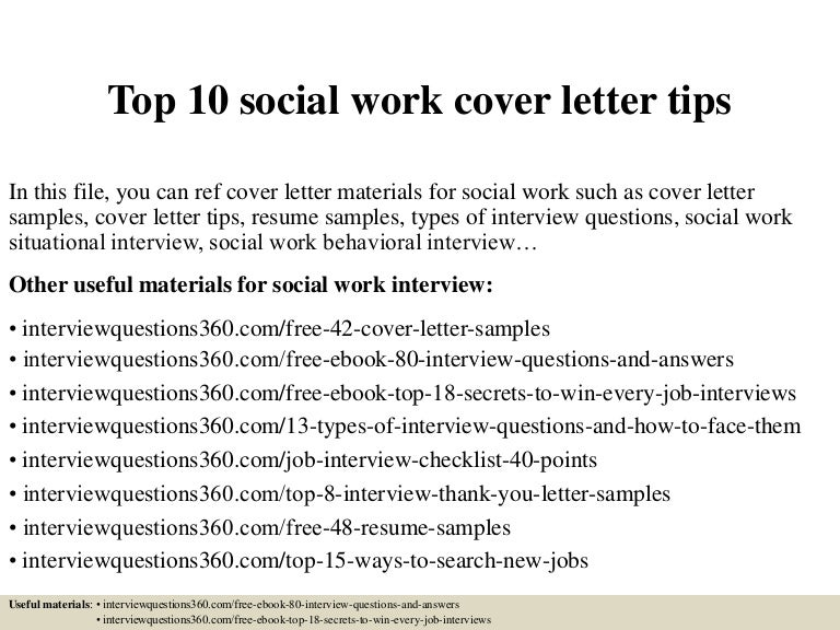 Top 10 social work cover letter tips