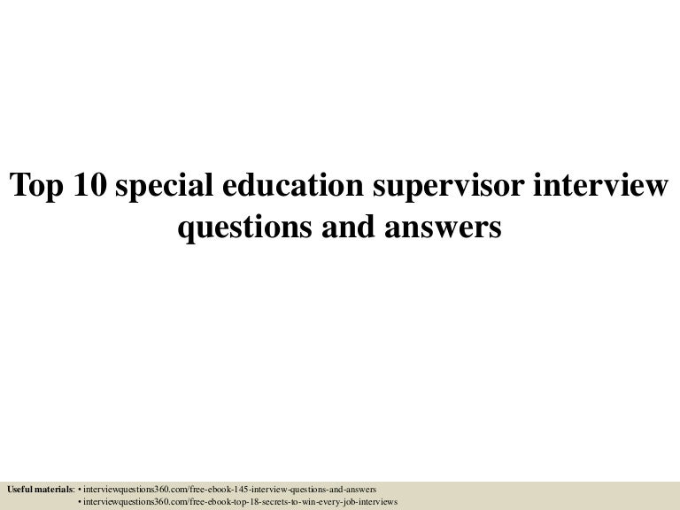 special education coordinator interview questions