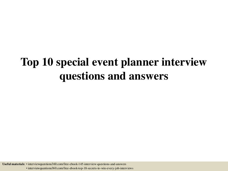 TopSpecialeventplannerinterviewquestionsandanswersLvaAppThumbnailJpgCb