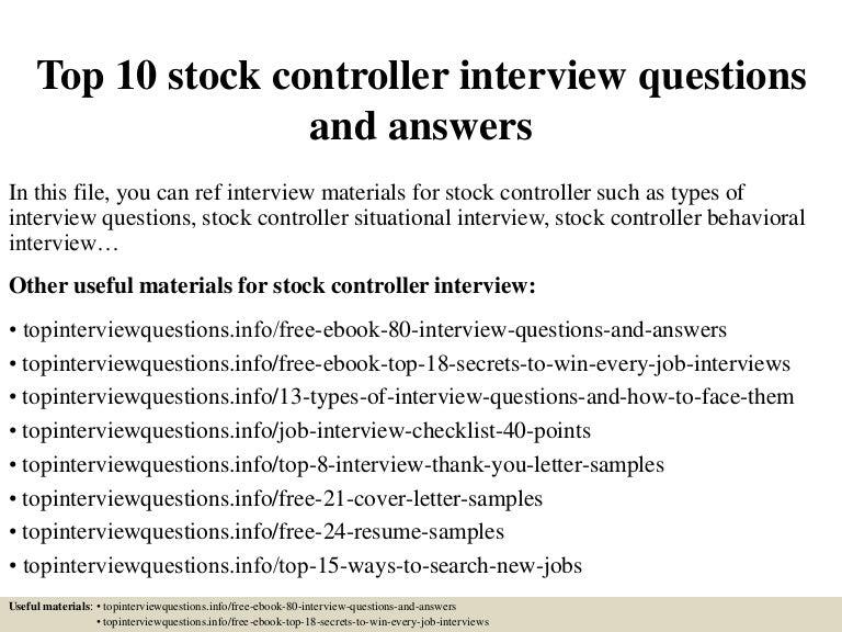 top10stockcontrollerinterviewquestionsandanswers150328011447conversiongate01thumbnail4jpgcb 1427523337 – Stocker Job Description
