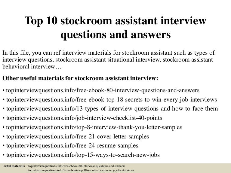 Top10Stockroomassistantinterviewquestionsandanswers-150318023940-Conversion-Gate01-Thumbnail-4.Jpg?Cb=1426664429
