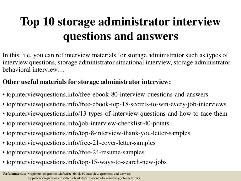 Top10storageadministratorinterviewquestionsandanswers 150322085943 Conversion Gate01 Thumbnail 4?cbu003d1427032830