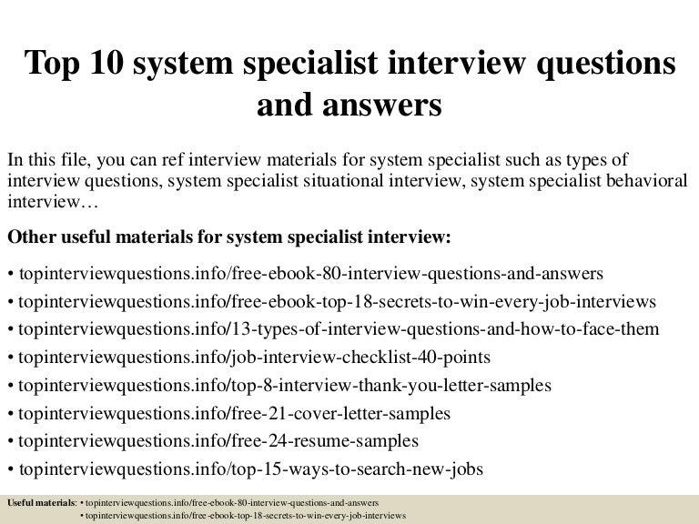 system specialist job description radiovkm.tk