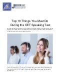 Top 10 Things You Must Do During the OET Speaking Test