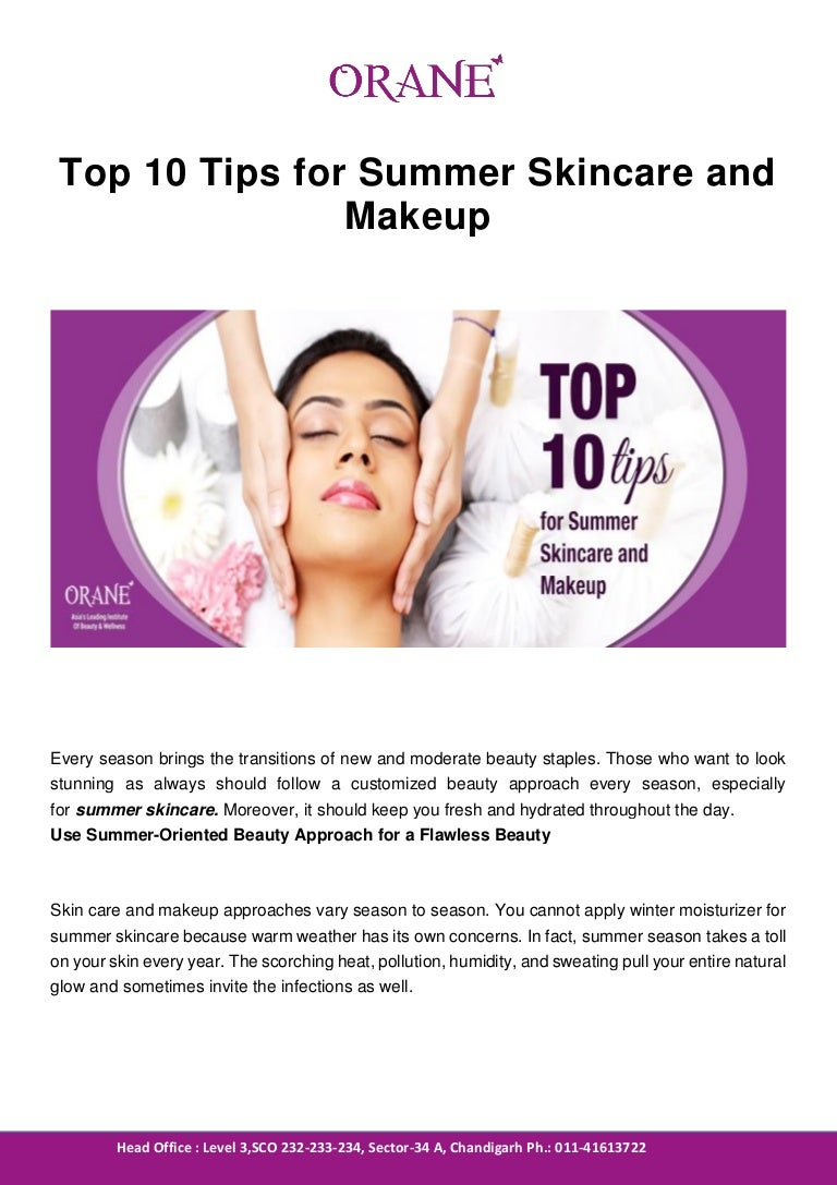 Top 11 tips for summer skincare and makeup