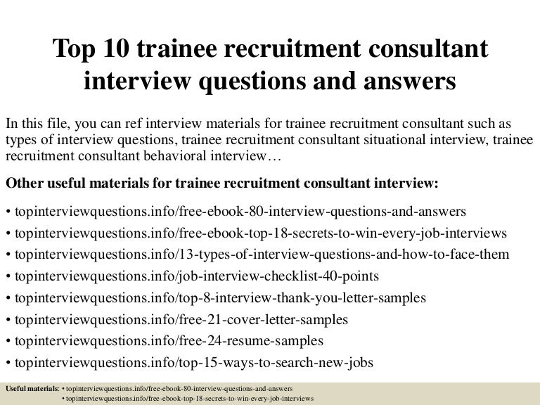 recruitment consultant cover letters
