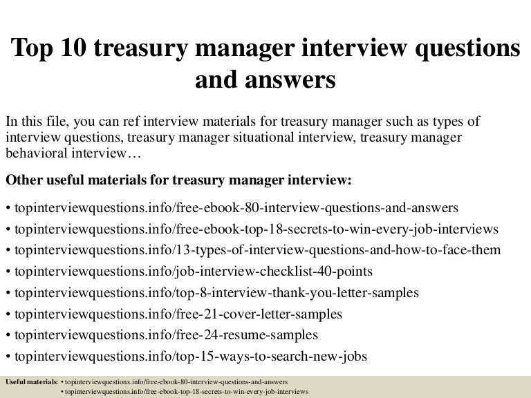 top10treasurymanagerinterviewquestionsandanswers 150317090742 conversion gate01 thumbnail 4jpgcb1426601311 - Job Description Treasury Manager