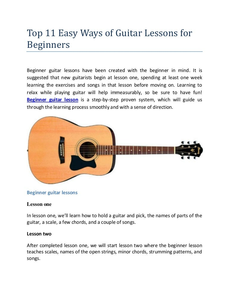 top 11 easy ways of guitar lessons for beginners. Black Bedroom Furniture Sets. Home Design Ideas