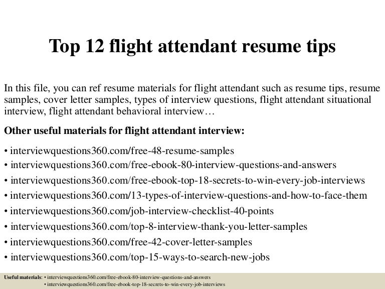 Elegant Top12flightattendantresumetips 150402034619 Conversion Gate01 Thumbnail 4?cbu003d1427964425