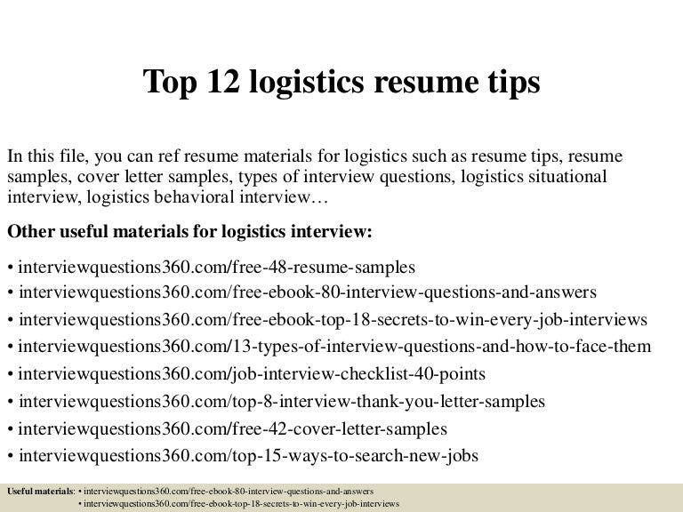 Top12Logisticsresumetips-150402090649-Conversion-Gate01-Thumbnail-4.Jpg?Cb=1427983657