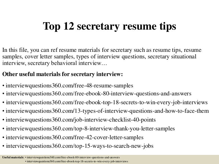 top12secretaryresumetips 150402042306 conversion gate01 thumbnail 4jpgcb1427966630