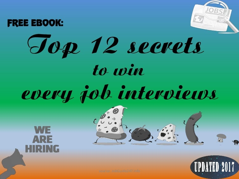 Top 12 secrets to win every your job interviews fandeluxe PDF