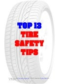Top 13 tire safety tips