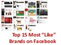 Top 15 Most Like Brands on Facebook
