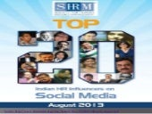 SHRM's 2013 List of Top 20 HR Influencers on Social Media
