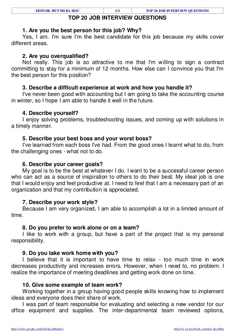 my ideal job top job interview questions essay on the perfect job  top job interview questions