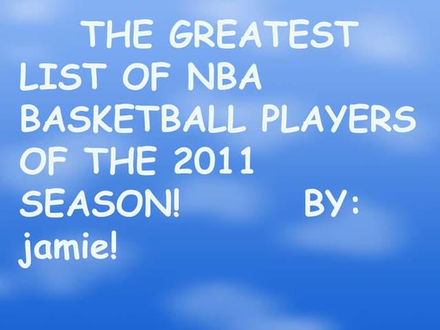 Top 20 nba players of the 2011 season