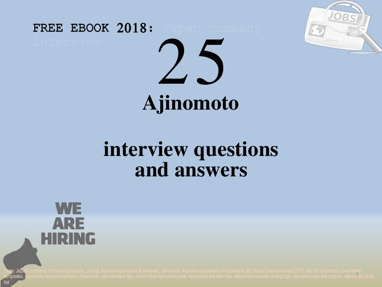 Top 25 ajinomoto interview questions and answers pdf ebook
