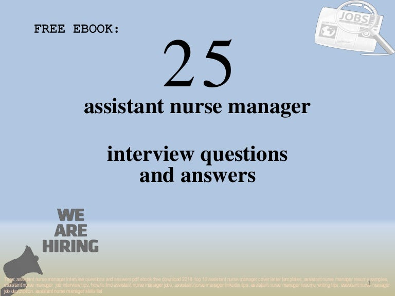Top 25 assistant nurse manager interview questions and answers pdf eb…