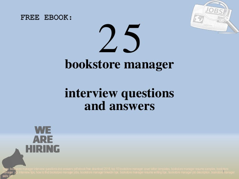 Top 25 bookstore manager interview questions and answers pdf ...