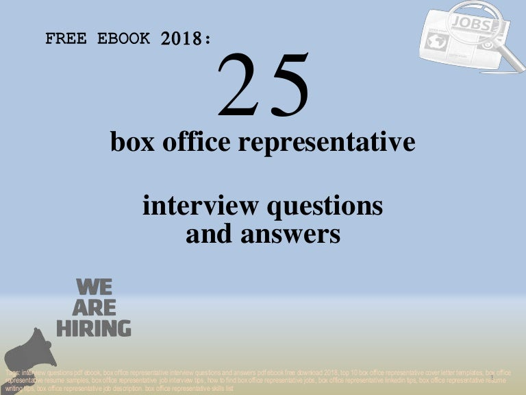 Top 25 box office representative interview questions and ...
