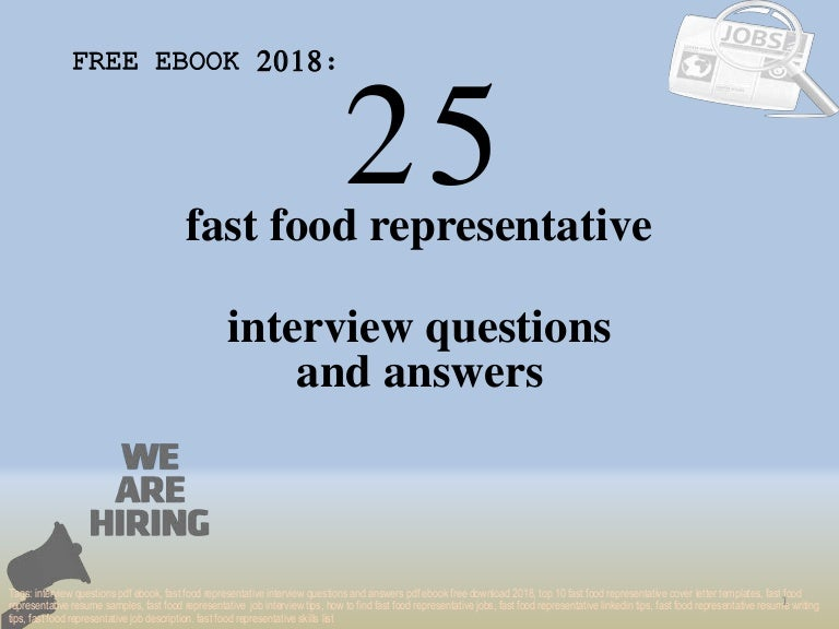 top 25 fast food representative interview questions and answers pdf e