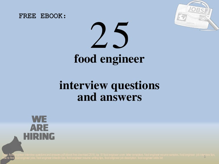 Top 25 food engineer interview questions and answers pdf ...